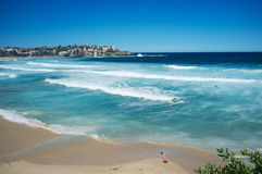 Bondi Beach, Sydney , Australia. Enjoying the weeked sunshine at Bondi Beach, Sydney, Australia stock images