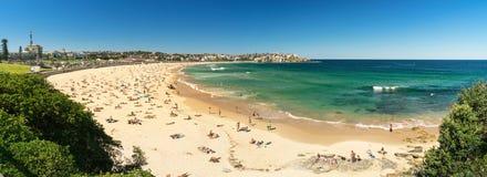 Bondi Beach in Sydney, Australia. Sydney, Australia - February 20, 2017: View of the Bondi Beach in Sydney Australia stock photo