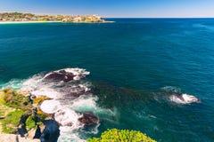 Bondi Beach in Sydney, Australia. View of the Bondi Beach in Sydney Australia royalty free stock photography