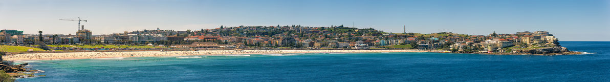 Bondi Beach in Sydney Australia. View of the Bondi Beach in Sydney Australia Royalty Free Stock Photography