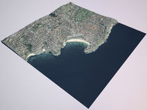 Bondi beach, Sydney city, satellite view. Australia Stock Photo