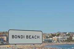 Bondi Beach in Sydney New South Wales Australia stock photos