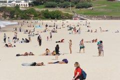 Bondi Beach Sydney. Picture of sunny Bondi Beach Sydney and the people Stock Photography