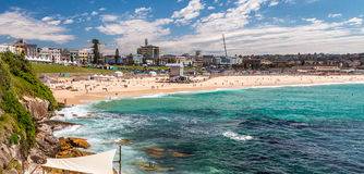 Bondi Beach in Sydney on a sunny day Royalty Free Stock Image