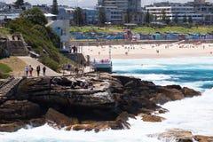 Bondi Beach and Bondi to Bronte Coastal Walk, Sydney Royalty Free Stock Photo