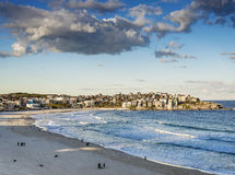 Bondi beach view at sunset dusk near sydney australia Royalty Free Stock Photo