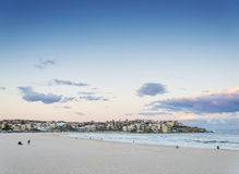 Bondi beach view at sunset dusk near sydney australia Royalty Free Stock Image