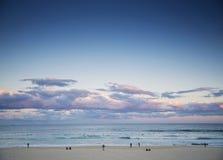 Bondi beach view at sunset dusk near sydney australia Stock Photography