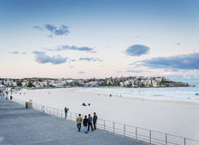 Bondi beach view at sunset dusk near sydney australia Stock Images