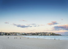 Bondi beach view at sunset dusk near sydney australia Stock Photography
