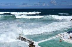 Bondi Iceberg's swimming pools with ocean view Stock Photo