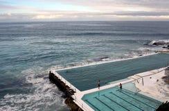 Bondi Iceberg's swimming pools  in winter time Royalty Free Stock Image