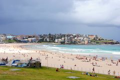 Bondi Beach, Sydney / Australia - February 2, 2017: View of the beach on a sunny day. Stock Photography