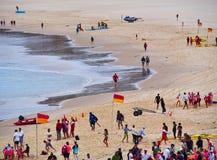 Bondi plaża na zaciszność Chmurzącym ranku, Sydney, Australia fotografia stock