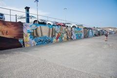 Bondi plaży malowidła ściennego Denna ściana Zdjęcie Stock