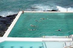 Bondi pool view Stock Image