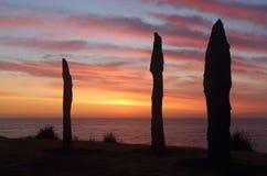 Bondi punkter på skulptur vid havet Royaltyfria Foton