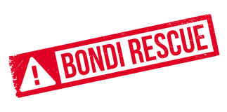 Bondi Rescue rubber stamp Royalty Free Stock Image