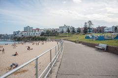 Bondi SkatePark and Beach Scene royalty free stock photos