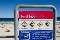 Bondi Strand Sydney Stockfotos