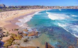 Bondi strand, Sydney Australia Fotografering för Bildbyråer