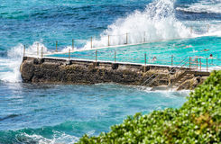 Bondi-Strandlandschaft, Sydney an einem sonnigen Tag Lizenzfreie Stockbilder