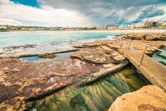Bondi strandsikt för storm Royaltyfri Bild