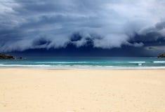 Bondi strandstorm - Sydney Australia Arkivfoton