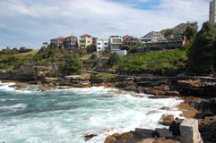 Bondi to Coogee coastal walk, Sydney, Australia. Royalty Free Stock Photography