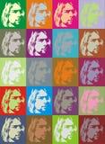 Bondige portretten Cobain royalty-vrije illustratie