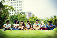 Bonding Community Friends Team Togetherness Unity Concept.  royalty free stock image