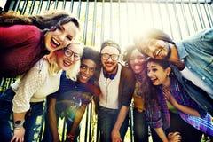 Bonding Community Friends Team Togetherness Unity Concept. Happy Friends Bonding Together Concept stock photo