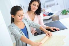 Bonding between mother and daughter stock photos