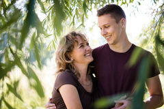 Bonding between mother and son. Family concept. Royalty Free Stock Image