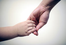 Bonding. Mum and Son holding hand Royalty Free Stock Photo