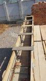 Bonding of reinforcement. Making formwork, timbering Royalty Free Stock Photos