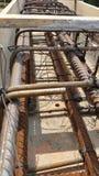 Bonding of reinforcement. Making formwork, timbering Stock Photos