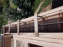 Bonding of reinforcement. Making formwork, timbering Stock Photography