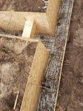 Bonding of reinforcement. Making formwork, timbering Royalty Free Stock Photo