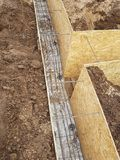 Bonding of reinforcement. Making formwork, timbering Royalty Free Stock Images