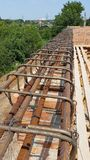 Bonding of reinforcement. Making formwork, timbering Royalty Free Stock Photography