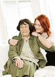 Bonding women. Young women happy with her Grandmother Royalty Free Stock Photos