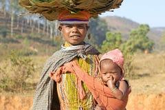 Bondo woman and child Royalty Free Stock Photo