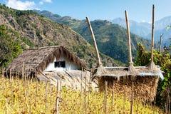Bondon - le counryside du Népal photo stock