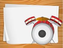 Bondpapers vacíos con los tambores stock de ilustración