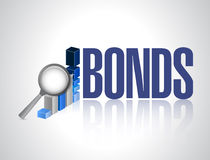 Bonds business graph illustration design Stock Photos
