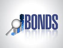Bonds business graph illustration design. Over a white background Stock Photos