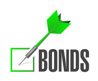 Bonds check dart selection illustration. Design over a white background Royalty Free Stock Photos