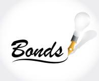 Bonds message illustration design. Over a white background Stock Images