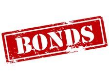 Bonds. Rubber stamp with word bonds inside,  illustration Stock Photo